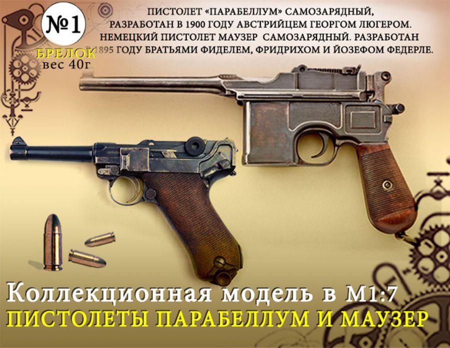 """Форма №1 """"Брелок. Пистолеты Парабеллум и Маузер""""(1:7)"""