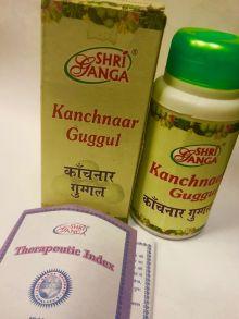 Канчанар гуггулу таблетки Shri Ganga Kanchanaar Guggulu 100 гр 200 таб