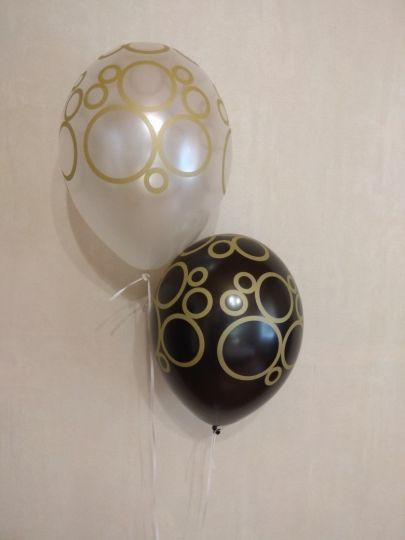 Кольца золотые латексные шары с гелием