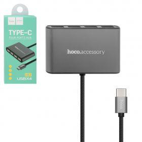 USB хаб Hoco Type C to 4USB