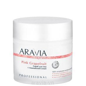 Скраб для тела с гималайской солью Pink Grapefruit, 300 мл, ARAVIA Organic