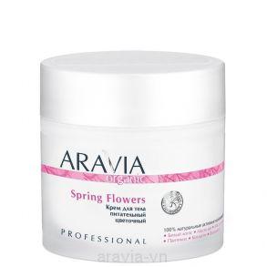 Крем для тела питательный цветочный Spring Flowers, 300 мл, ARAVIA Organic
