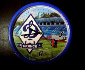Часы настенные большие футбольные Динамо Брянск