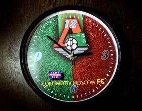 Часы настенные большие футбольные Локомотив Москва