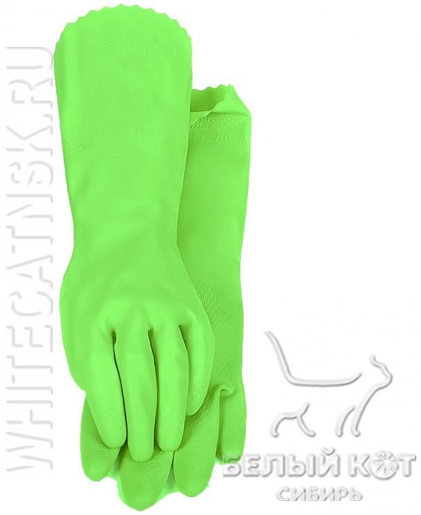 Защитные виниловые перчатки Блеск салатовые размер L