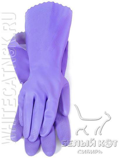 Защитные виниловые перчатки Блеск фиолетовые размер S