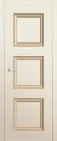 Магнолия сатинат. Багет - золото. Кромка - ABS с 4х сторон в цвет полотна.