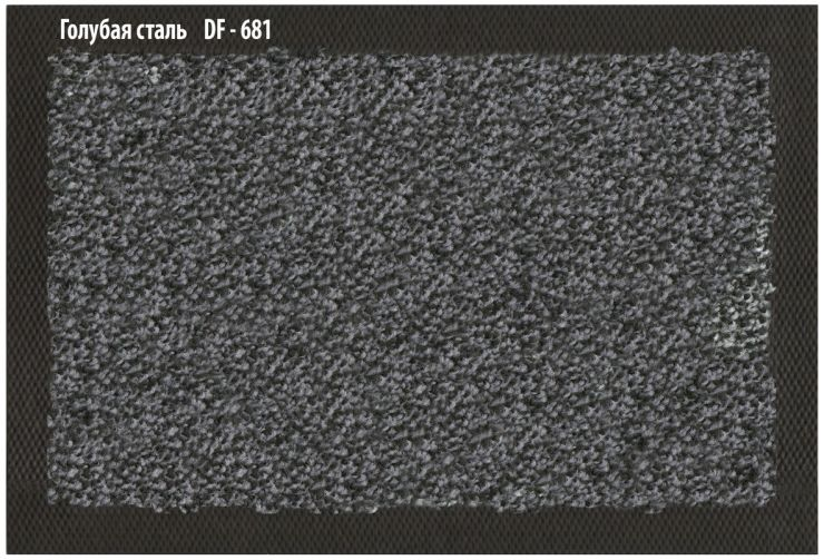 Ковёр Каучук асептик 85 х 150 см голубая сталь