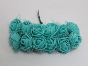 `Цветы из фоамирана с органзой, 11-12 цветков, цвет: зеленый мятный