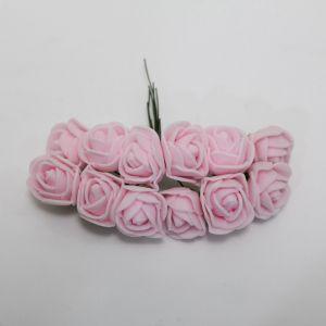 `Цветы из фоамирана, 11-12 цветков, цвет: светло-розовый