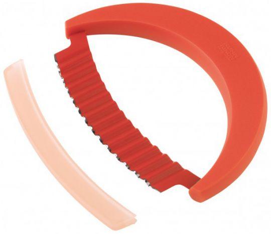Круглый нож Mezzaluna для зелени Kuhn Rikon красный 25305