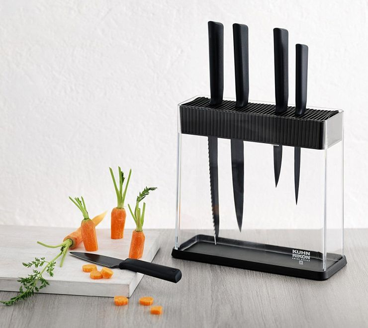 Набор ножей на подставке Kuhn Rikon Colori 5 шт чёрные 26592