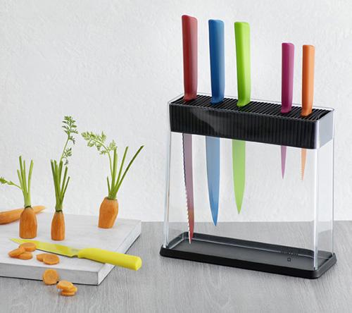 Набор ножей на подставке Kuhn Rikon Colori 6 шт цветные 26599
