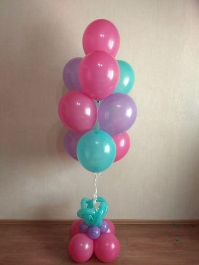 Фонтан из 10 шаров с подставкой