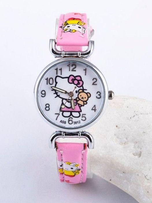 Наручные часы для девочки розового цвета