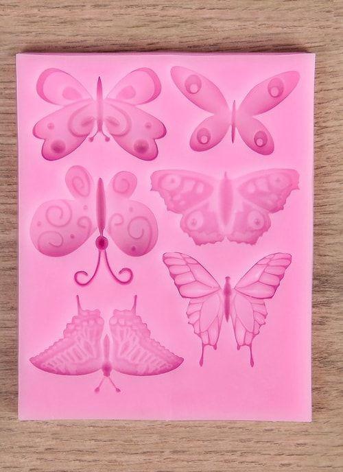 """Молд 11х9х0,5 см """"Бабочки"""", розовый"""