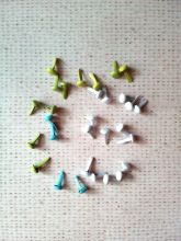 набор брадс 30 шт СВЕЖИЙ  МИКС диаметр 5 мм