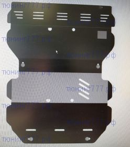 Защита радиатора + картера + Мкпп + раздатки, Sheriff, сталь 2.5-3мм.,  V - 2.4 TD