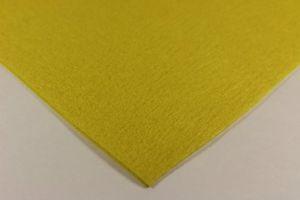 Фетр листовой, жесткий, толщина 1 мм, размер 30х30 см, цвет №13 желтый