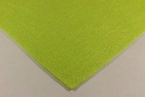 Фетр листовой, жесткий, толщина 1 мм, размер 30х30 см, цвет №10 лайм