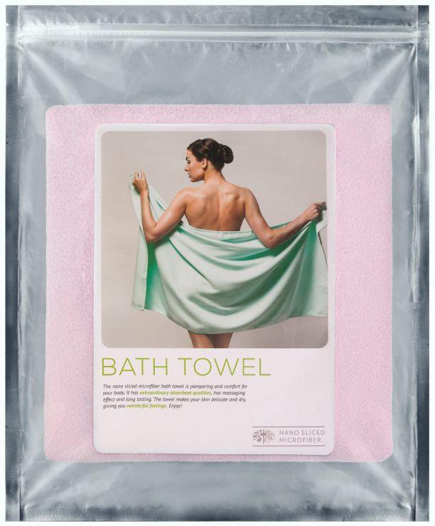 Полотенце банное 80 х 150 см розовое