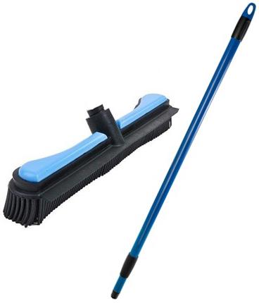 Щётка Комфорт голубая ручка телескопическая