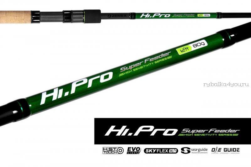 Купить Удилище фидерное Zemex Hi-Pro Super Feeder 12 ft / тест до 80гр
