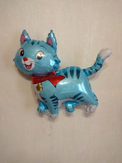 Котик (2 цвета) фольгированный шар с гелием