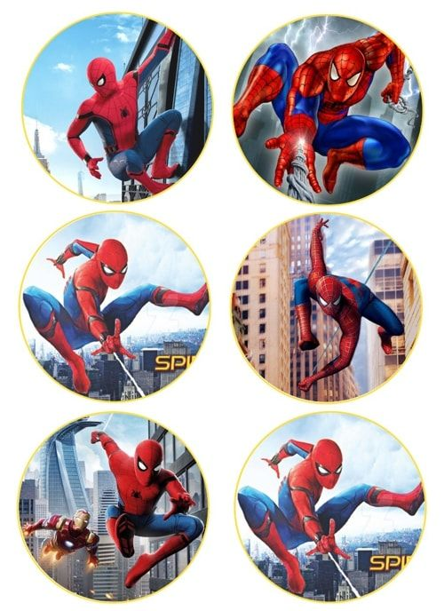 Вафельная картинка Чел паук  (1)