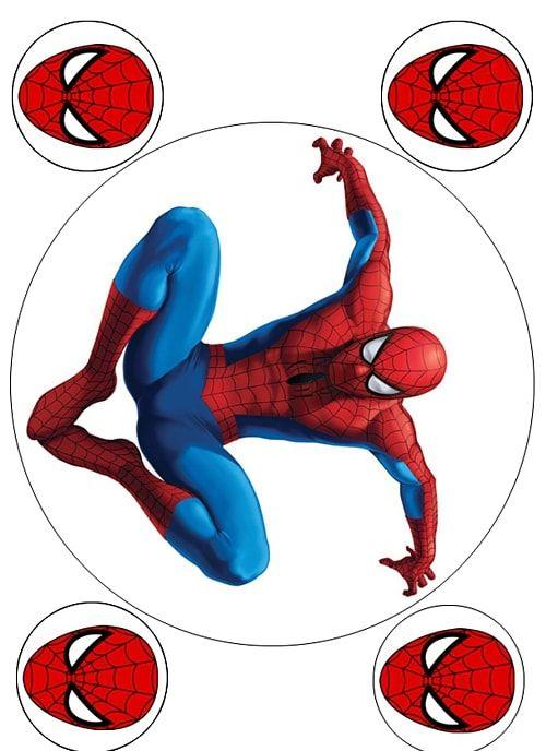 Вафельная картинка Чел паук  (6)