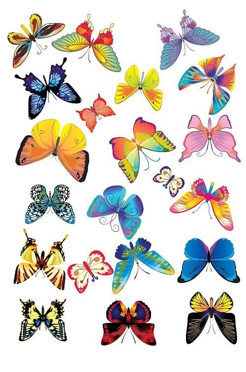 Вафельная картинка Бабочки  (1)