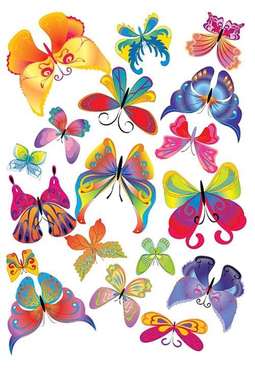 Вафельная картинка Бабочки  (2)