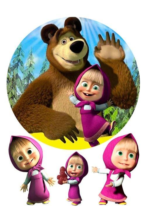 Вафельная картинка Маша и медведь (2)