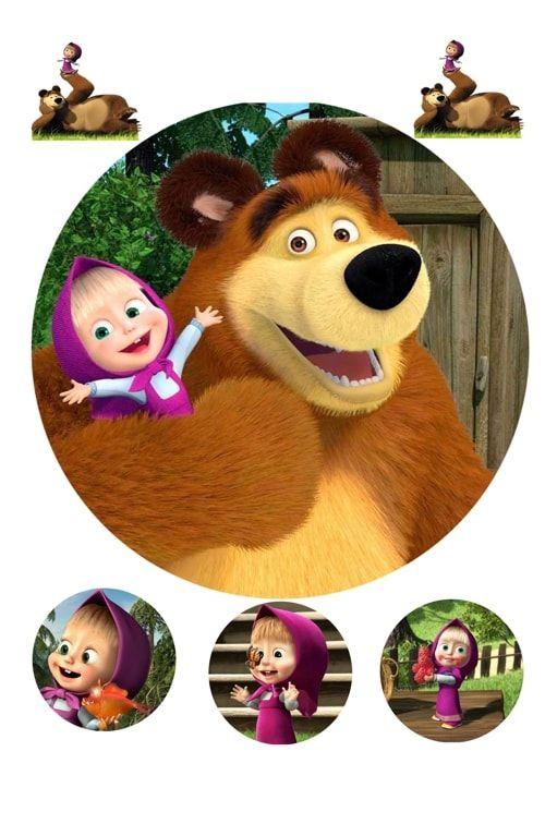 Вафельная картинка Маша и медведь (3)