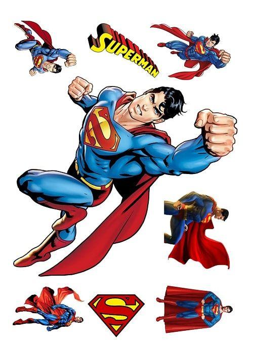 Вафельная картинка Супермен и бэтмен   (5)