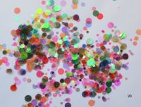 Конфетти, камифубуки #20 микс прозрачные для дизайна ногтей, голографические