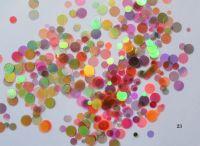 Конфетти, камифубуки #23 микс прозрачные для дизайна ногтей, голографические