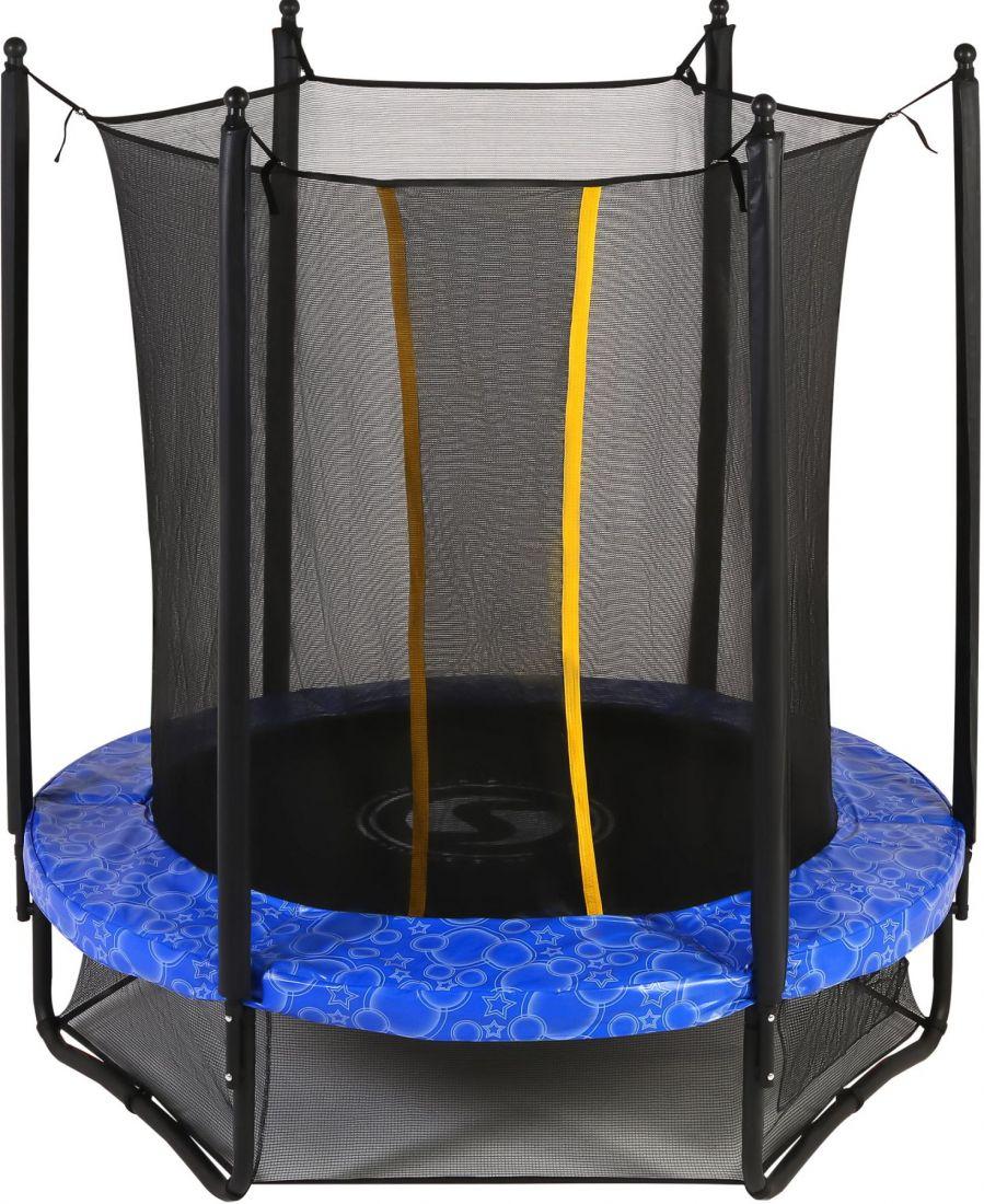 Батут с внутренней защитной сеткой - Swollen Classic 6FT (1,82м), цвет синий