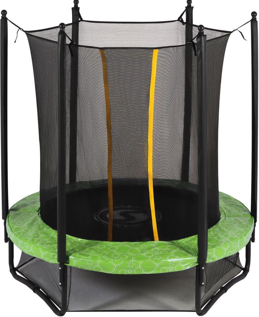 Батут с внутренней защитной сеткой - Swollen Classic 6FT (1,82м), цвет зеленый