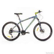 "Велосипед Meratti Forza Tre Gray/Lime 24ск, (17, 26"") серый / салатовый"