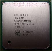 Процессор Intel Pentium 4 3.0 GHz (SL7PM, SL79L) - lga478, 1 ядро/1 поток, 3.0 GHz