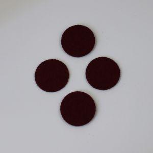 `Фетровые пяточки 25мм, цвет № 09 бордовый (1уп = 20шт)