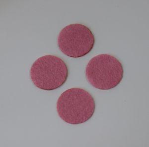 `Фетровые пяточки 25мм, цвет № 02 розовый (1уп = 20шт)