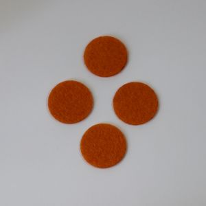 `Фетровые пяточки 25мм, цвет № 16 оранжевый (1уп = 20шт)
