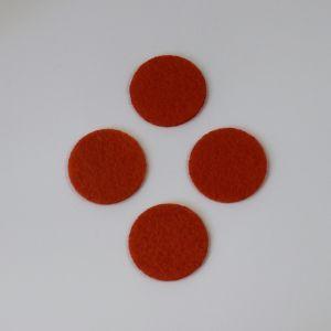 `Фетровые пяточки 25мм, цвет № 17 темно-оранжевый (1уп = 20шт)