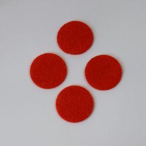 `Фетровые пяточки 25мм, цвет № 18 кислотно-оранжевый (1уп = 20шт)