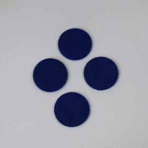 `Фетровые пяточки 25мм, цвет № 21 темно-синий (1уп = 20шт)