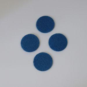 `Фетровые пяточки 25мм, цвет № 23 светло-синий (1уп = 20шт)