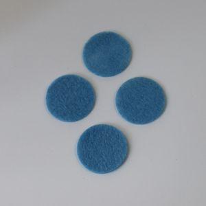 `Фетровые пяточки 25мм, цвет № 24 голубой (1уп = 20шт)