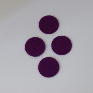 `Фетровые пяточки 25мм, цвет № 27 темно-фиолетовый (1уп = 20шт)